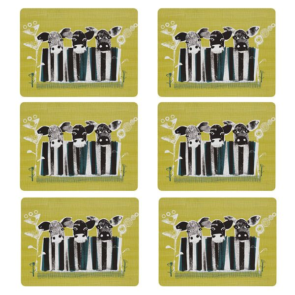 Denby Set Of 6 Cow Placemats