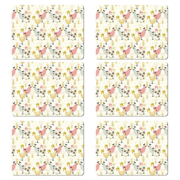 Denby Set Of 6 Hens Placemats