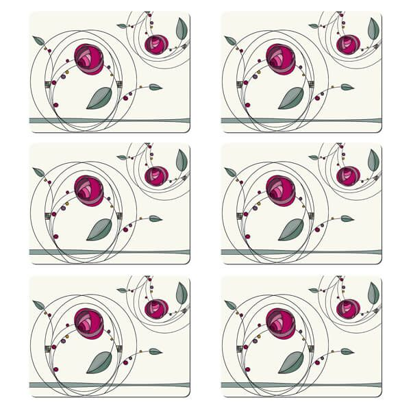 Denby Set Of 6 Tiffany Rose Double Placemats