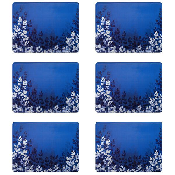 Denby Colours Blue Foliage Placemats Set Of 6