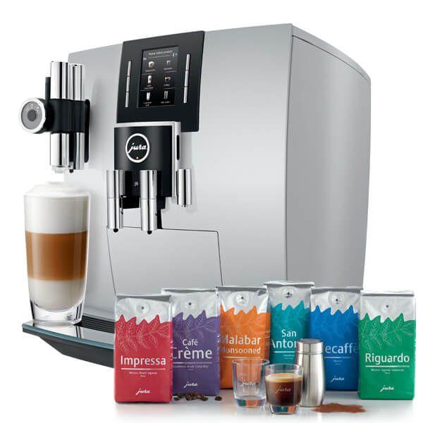 Jura J6 Brilliant Silver Automatic Coffee Machine with FREE Gift