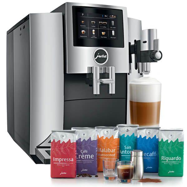 Jura S8 Chrome Automatic Coffee Machine with FREE Gift