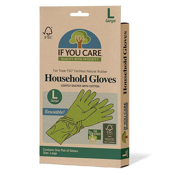 If You Care FSC Large Certified Fair Rubber Latex Household Gloves