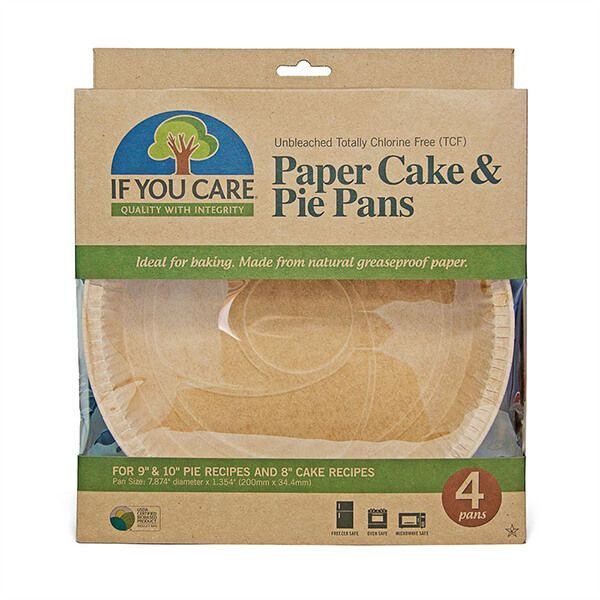 If You Care Unbleached Paper Cake/Pie Pans