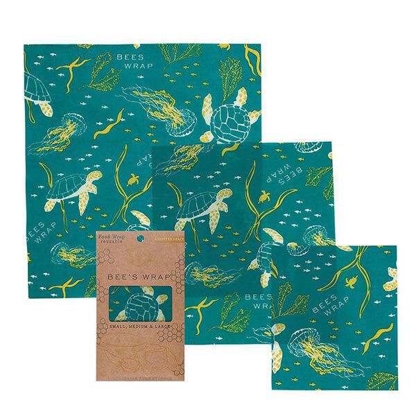 Bee's Wrap Ocean Print Set of 3 Assorted Size Wraps