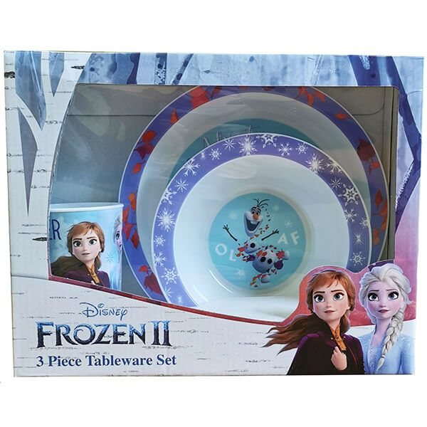 Disney Frozen 2 3 Piece Tableware Set Gift Box