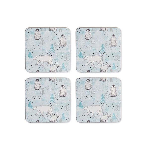 Cooksmart Frosty Morning Set Of 4 Coasters