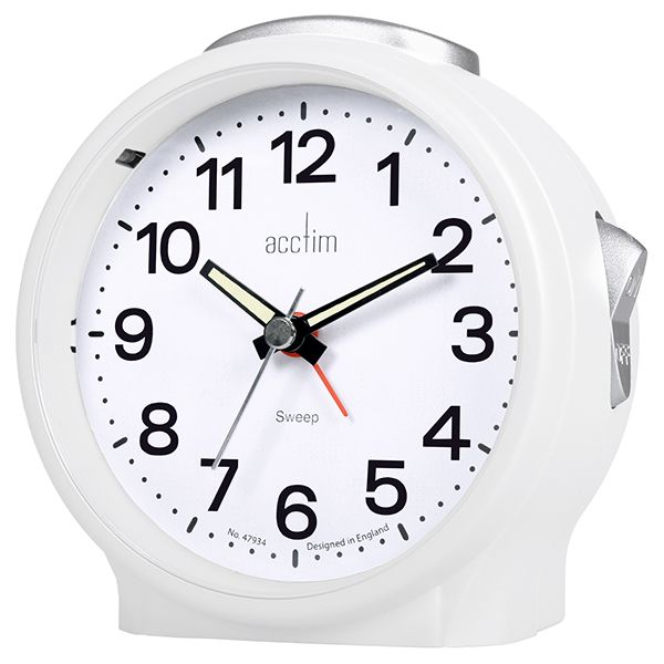 Acctim Elsie Alarm Clock White