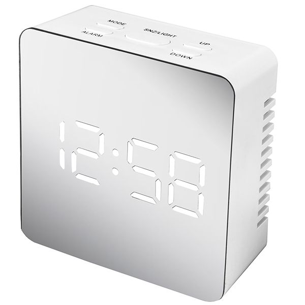 Acctim Lexington Alarm Clock White