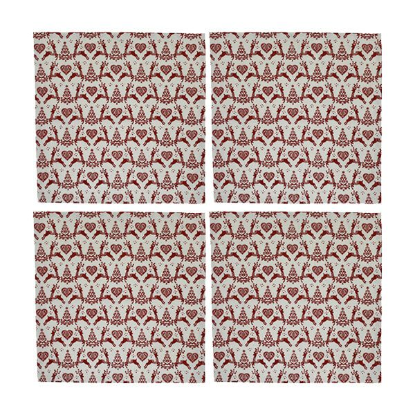Dexam Yuletide Set of 4 Cream Napkins