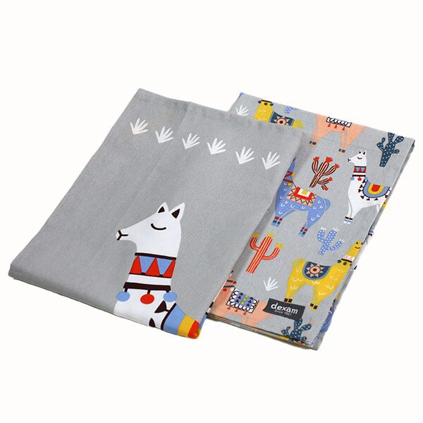 Dexam No Probllama Set of 2 Tea Towels
