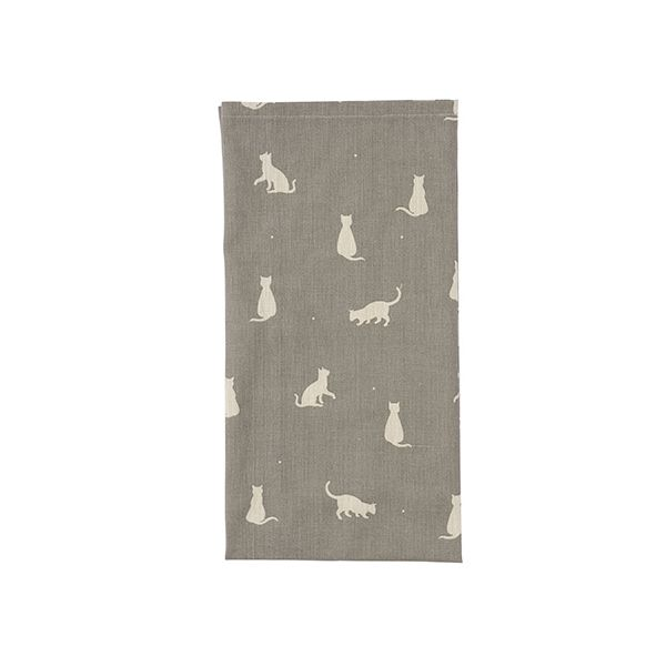 Dexam Vintage Happy Cats Tea Towel Slate