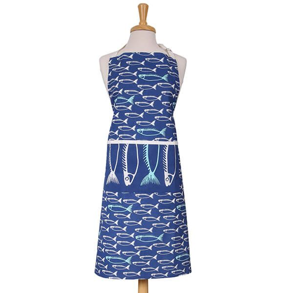 Dexam Fish Adult Apron Marine Blue
