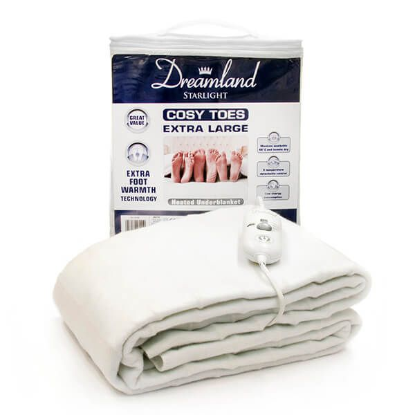 Dreamland Cosy Toes Extra Large King Heated Underblanket