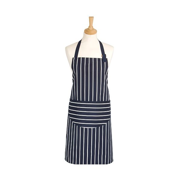 Dexam Rushbrookes Classic Butchers Stripe Adult Apron Navy
