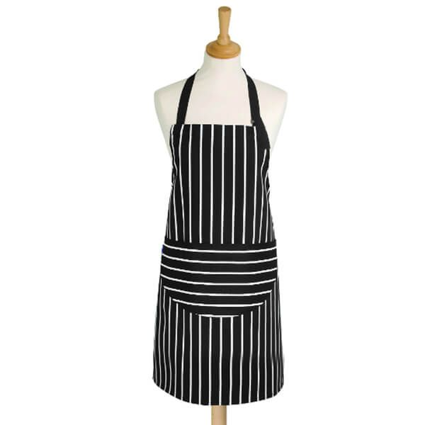Dexam Rushbrookes Butchers Stripe Medium Apron Slate Grey