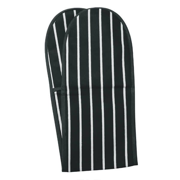 Dexam Rushbrookes Butchers Stripe Double Oven Glove Slate Grey
