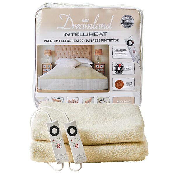 Dreamland Intelliheat Premium Fleece Heated Mattress Protector King Double Control