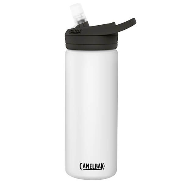 CamelBak 600ml Eddy Insulated Stainless Steel White Water Bottle
