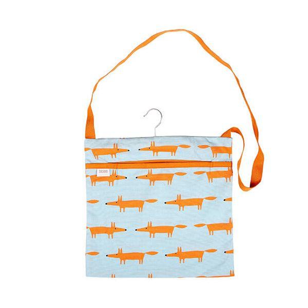 Scion Living Mr Fox Wipe Clean Blue Peg Bag