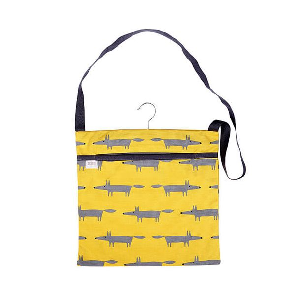 Scion Living Mr Fox Wipe Clean Yellow Peg Bag
