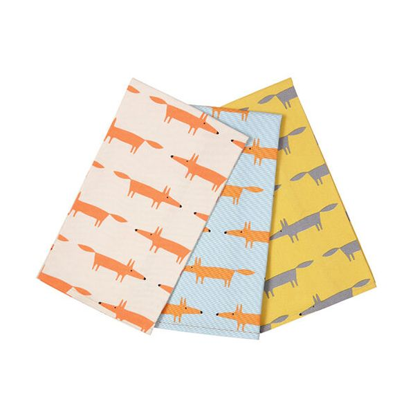 Scion Living Mr Fox Tea Towels Set Of 3