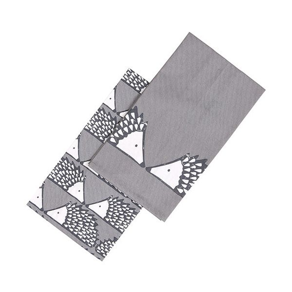 Scion Living Spike Tea Towels Set Of 2 Grey