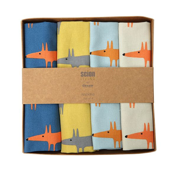 Scion Living Mr Fox Set Of 4 Napkins