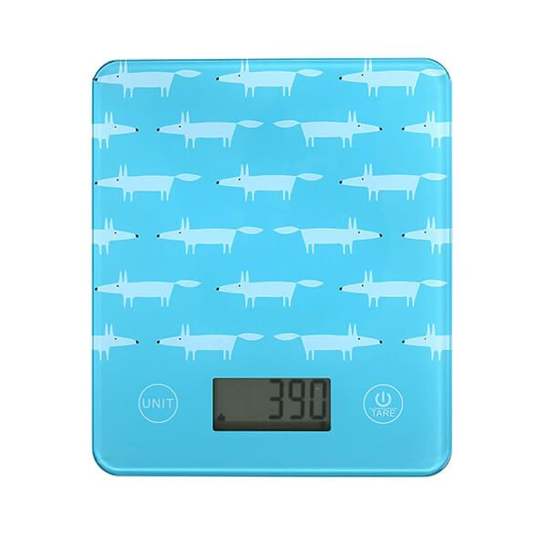 Scion Living Mr Fox Teal Electronic Kitchen Scales