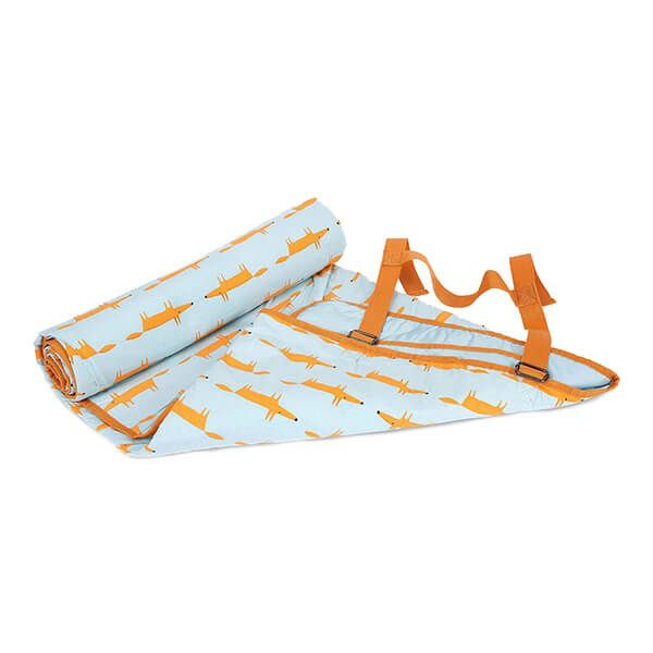 Scion Living Mr Fox Picnic Blanket Blue