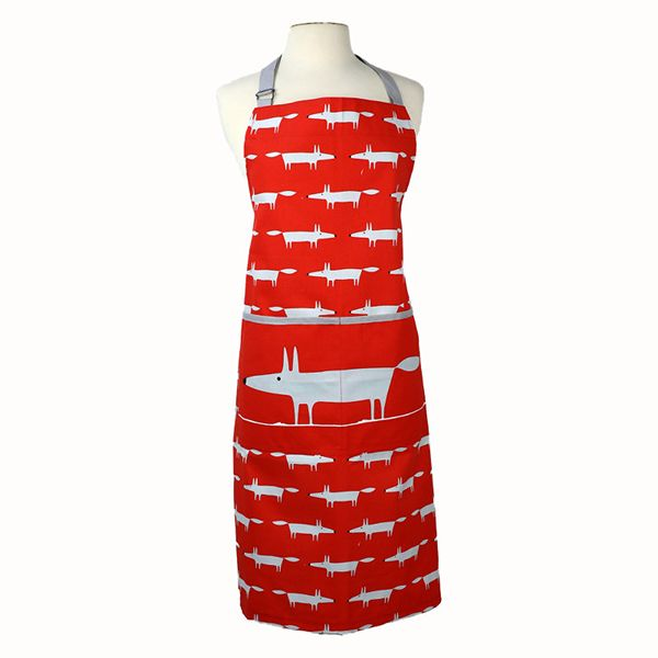 Scion Living Mr Fox Adult Apron Red