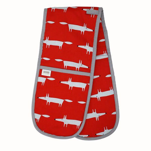 Scion Living Mr Fox Double Oven Glove Red