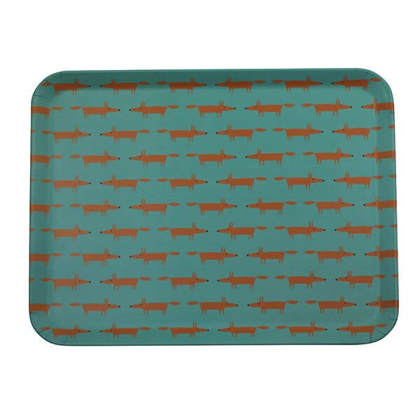 Scion Living Mr Fox Bamboo Tray Blue