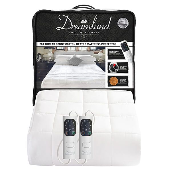 Dreamland Boutique Heated Mattress Protector Kingsize Dual Controls