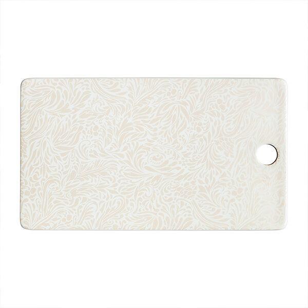 Denby Monsoon Lucille Gold Ceramic Platter