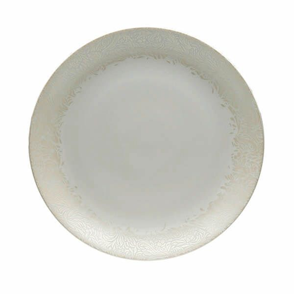 Denby Monsoon Lucille Gold Round Platter