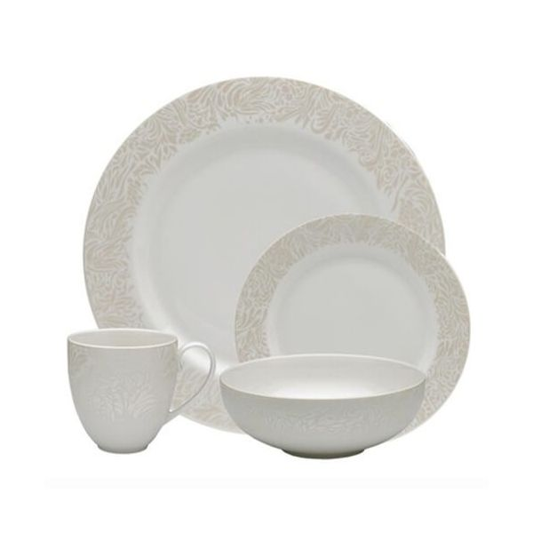 Denby Monsoon Lucille Gold 16 Piece Tableware Set