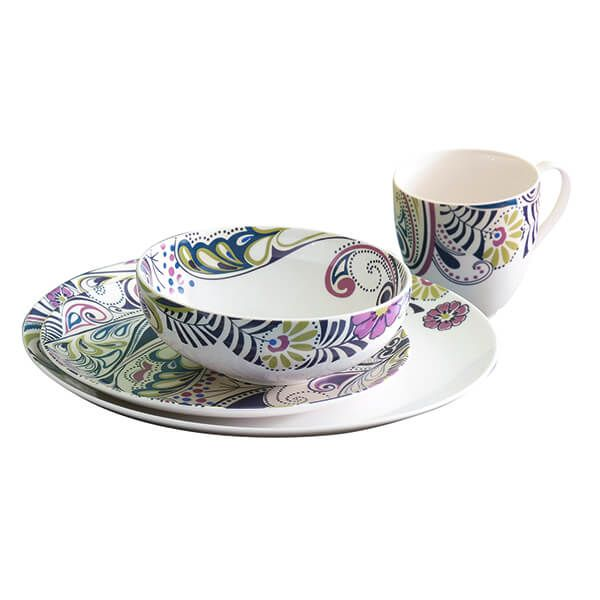 Denby Monsoon Cosmic 16 Piece Tableware Set