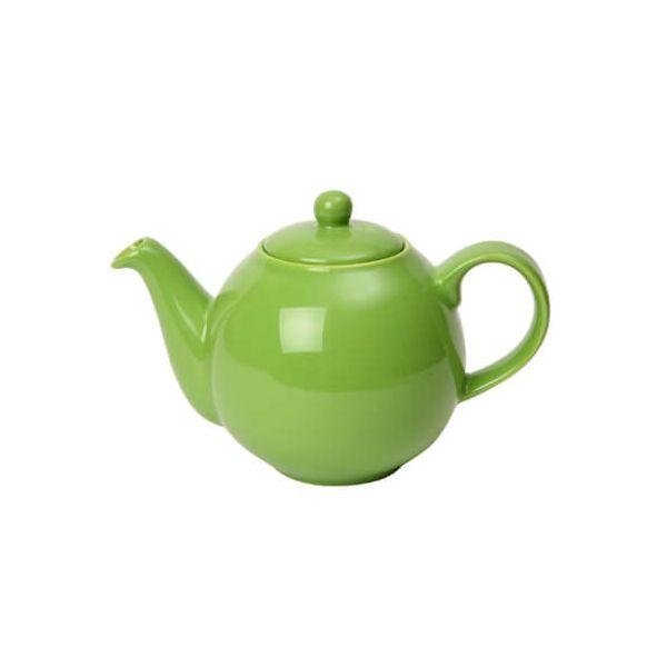 London Pottery 2 Cup Globe Teapot Greenery