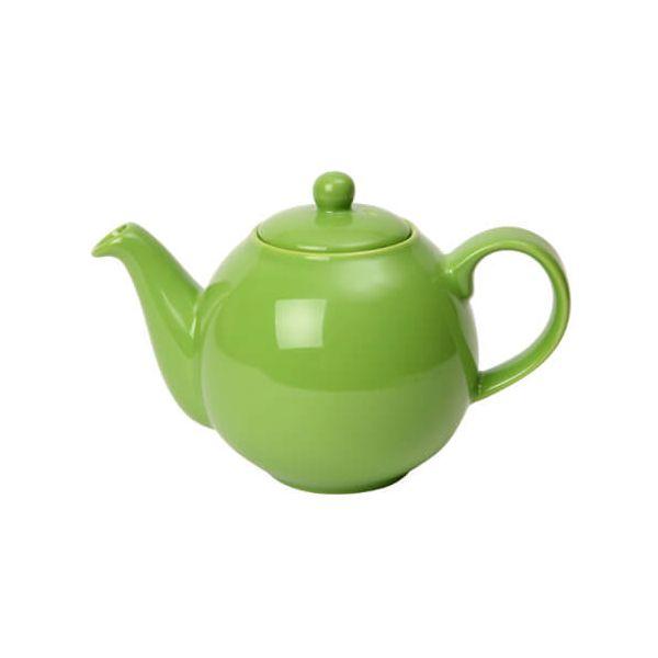 London Pottery 6 Cup Globe Teapot Greenery