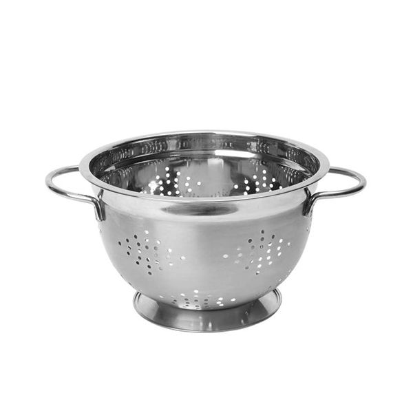 "Dexam 22cm / 8.5"" Stainless Steel Footed Colander"