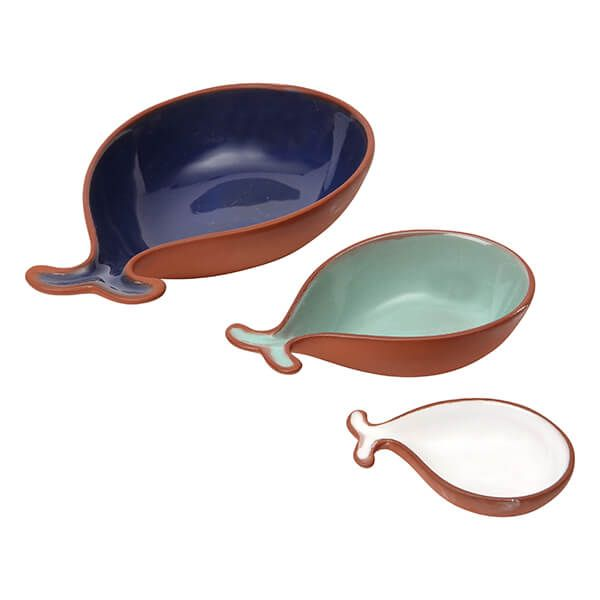 Dexam Terracotta Fish Tapas Dishes Set of 3