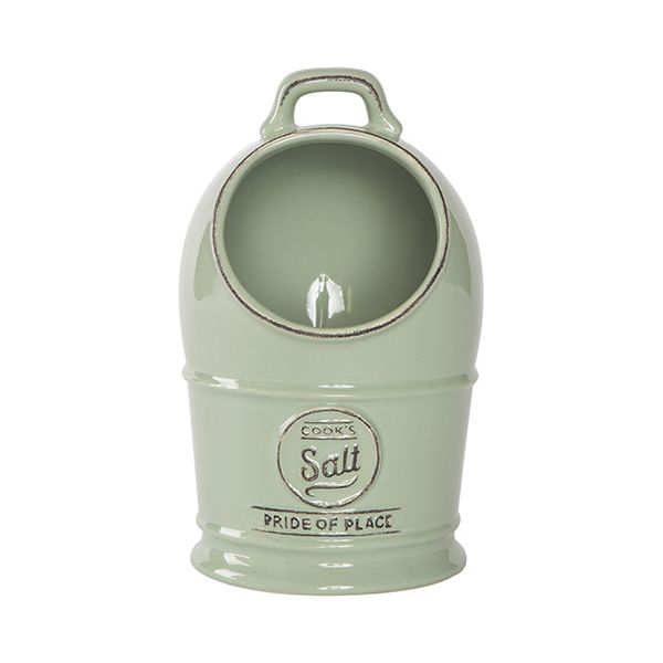 T&G Pride Of Place Salt Jar Old Green