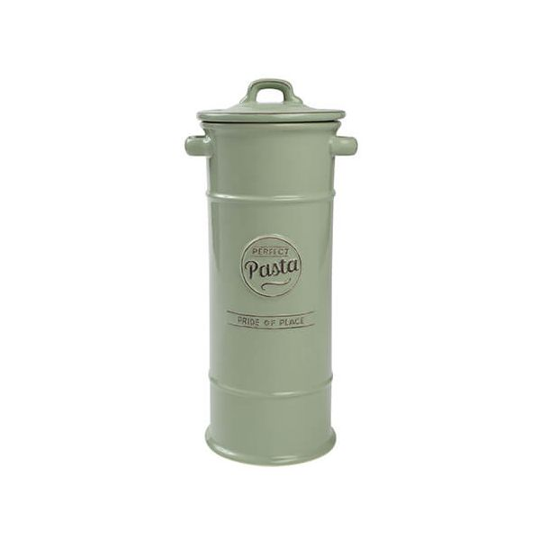 T&G Pride Of Place Pasta Jar Old Green
