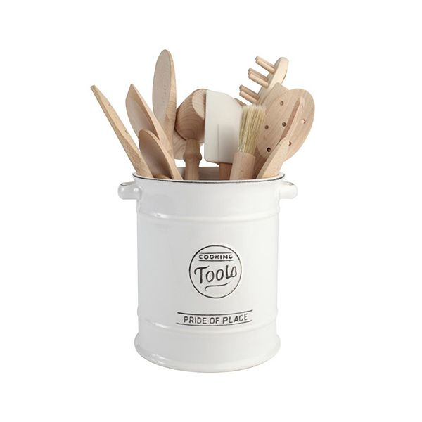 T&G Pride Of Place Large Cooking Tools Jar White