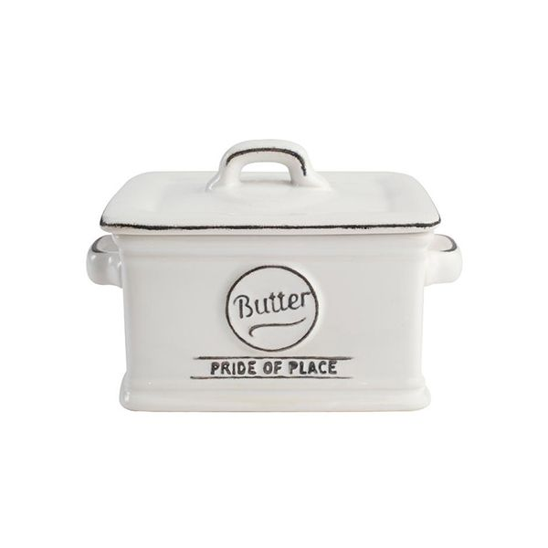 T&G Pride Of Place Butter Dish White