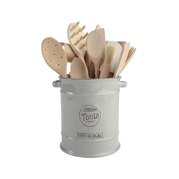 T&G Pride Of Place Large Cooking Tools Jar Cool Grey