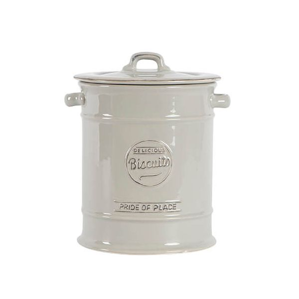 T&G Pride Of Place Large Biscuit Jar Cool Grey
