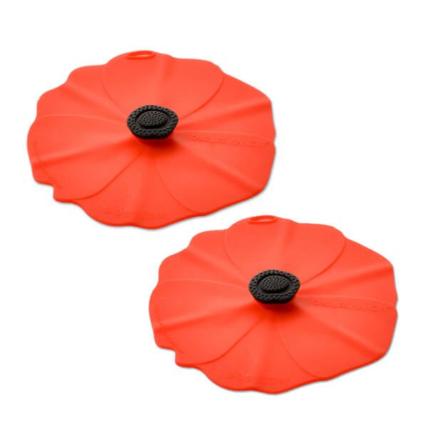 Charles Viancin Poppy Drink Covers Set Of 2