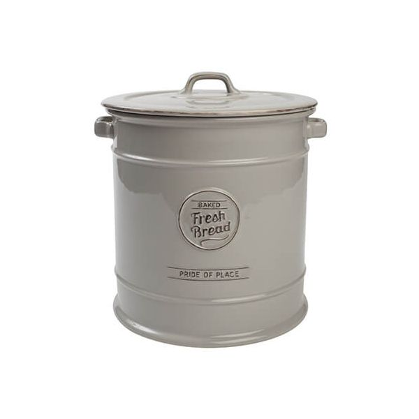 T&G Pride Of Place Bread Crock Cool Grey